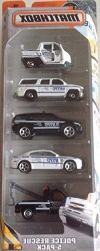 Matchbox, 2016 NYPD Police Rescue 5-Pack