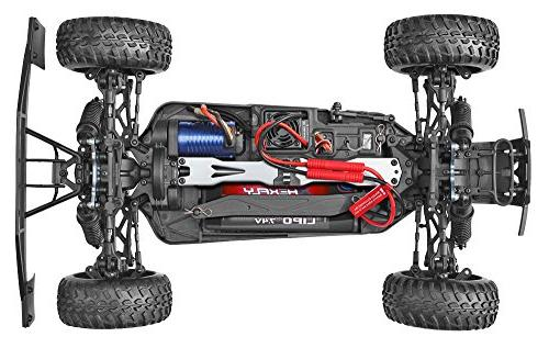 Redcat Blackout PRO Scale Electric Short Truck with Waterproof Electronics Vehicle, Red
