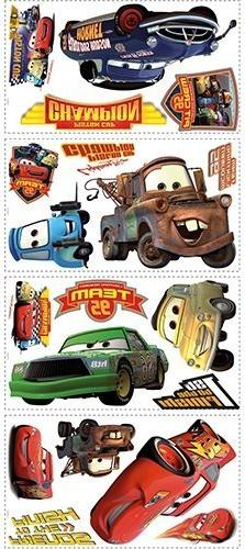 Roommates Rmk1520Scs Disney Pixar Cars Piston Cup Champs Peel /& Stick Wall De...