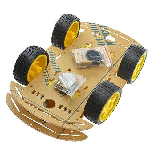 SODIAL NEW 4WD Robot Smart Car Chassis Kits car with Speed E