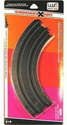 Auto-World HO 9'' Curved Track  - HO Scale Slot Car Track -