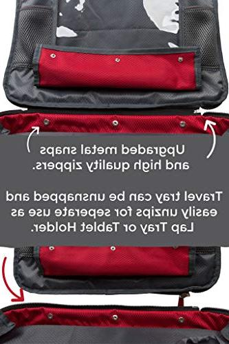 BE Family - Kids Car Lap Tray Snack and Tray - Bag - Car Backseat with Need to Side Pockets with Zipper.