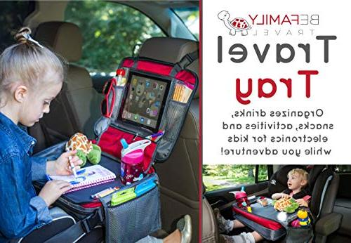 BE Travel Kids Car Lap Snack - Car Backseat with Unique Need to Side with Zipper.