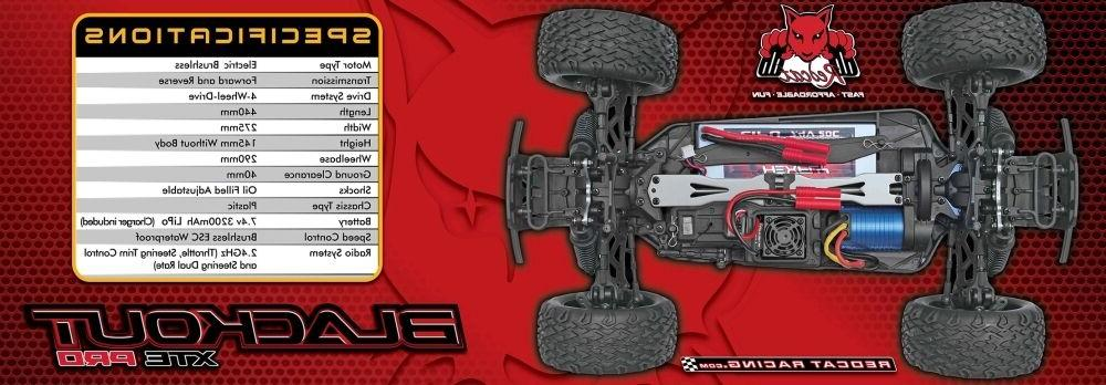 Redcat PRO 1/10 Brushless Electric Monster Truck 2.40 GHz Battery -