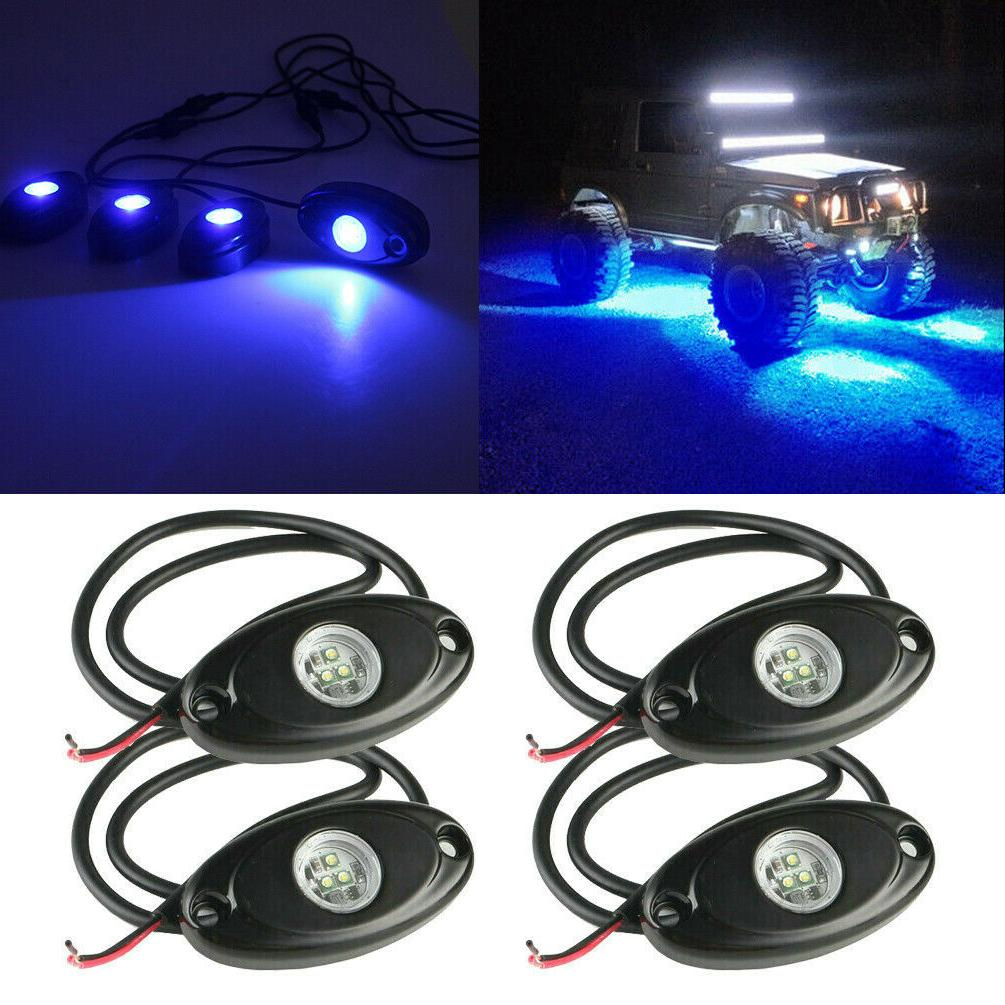 blue led rock light 4 pods lights