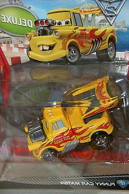 """DISNEY PIXAR CARS 2 """"FUNNY CAR MATER"""" NEW IN PACKAGE, SHIP W"""