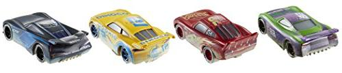 Cars Disney FIREBALL BEACH 4 PACK McQueen Jackson Hollis Dinoco Cruz Ramirez!