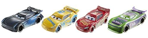 Cars FIREBALL BEACH 4 PACK Lightning McQueen Jackson Storm Dinoco Cruz
