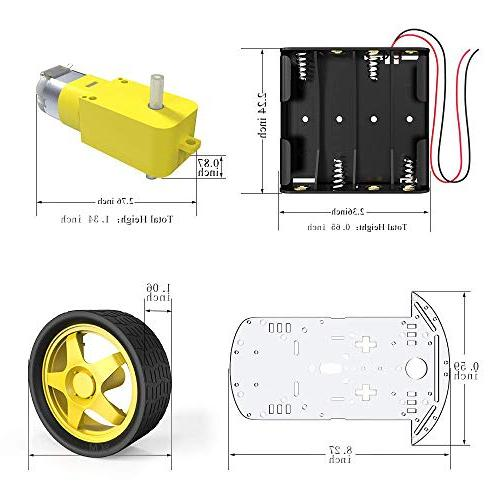 The perseids DIY Robot Smart Car Chassis with and Battery Box
