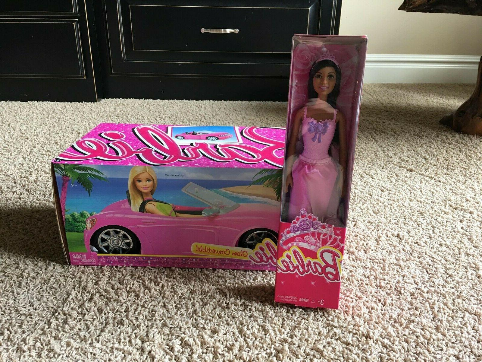 djr55 barbie doll and glam convertible plus
