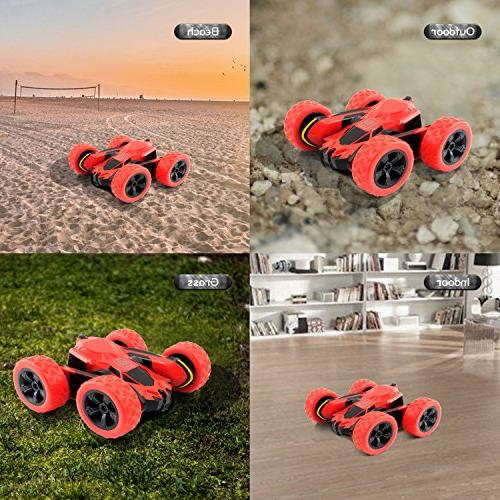 Rimila Electric Car Road Remote 2.4GHz Racing Vehicle Extreme High Speed Degree Rolling Rotating Rotation