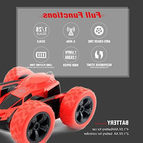 Rimila Stunt Car 2WD Remote 2.4GHz Racing Vehicle Speed Rolling