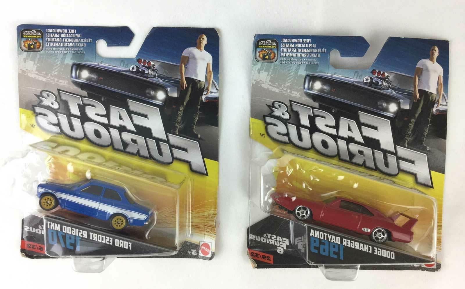 Fast and Furious Mattel Die Cast Lot Of 2 Cars 1970 Escort &