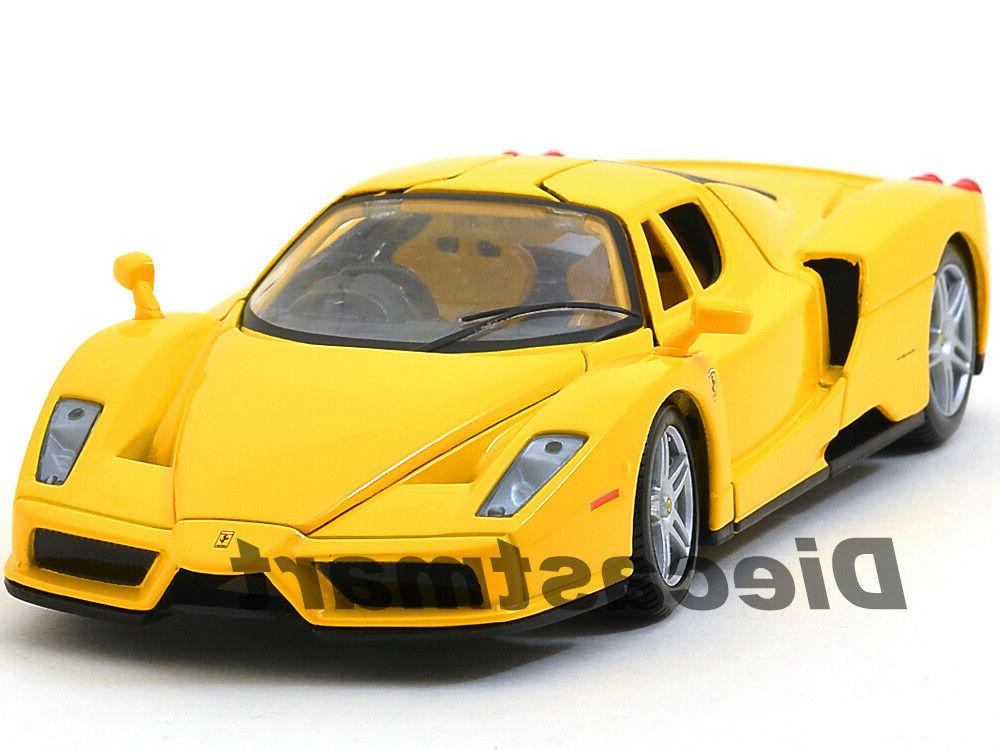 ferrari enzo yellow 1 24 diecast model