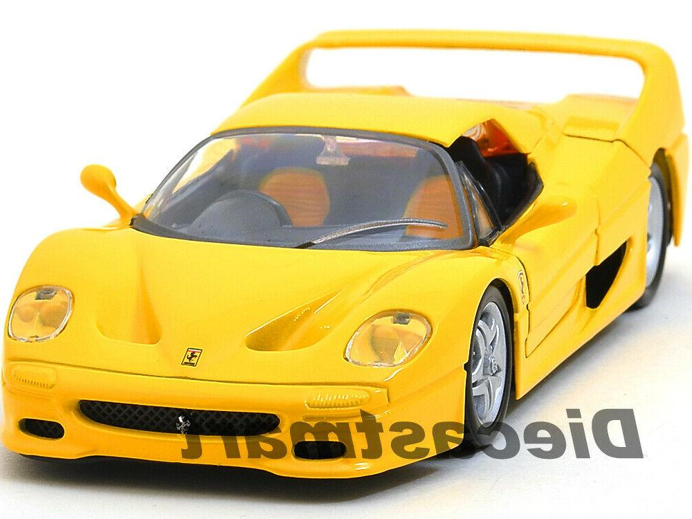ferrari f50 yellow 1 24 diecast model