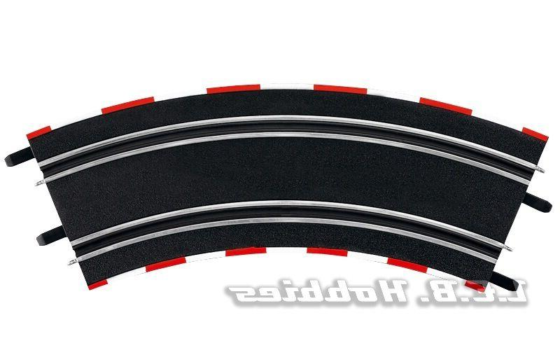 Carrera GO!!! Curve 3/45º for 1/43 slot car track, 4/pk 616