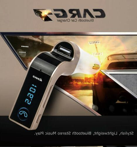 Handsfree G7 Bluetooth FM Transmitter Player