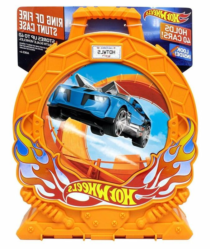 Hot Wheels Ring Of Fire 40-Car Storage Case W/Carrying Handl