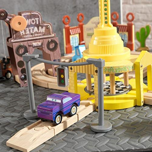 Radiator Springs Piece Wooden Track Set Accessories