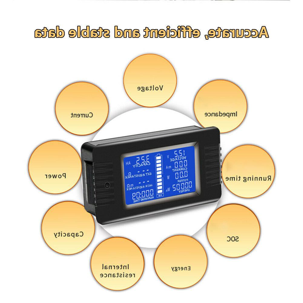 LCD DC Battery Monitor Meter Ammeter