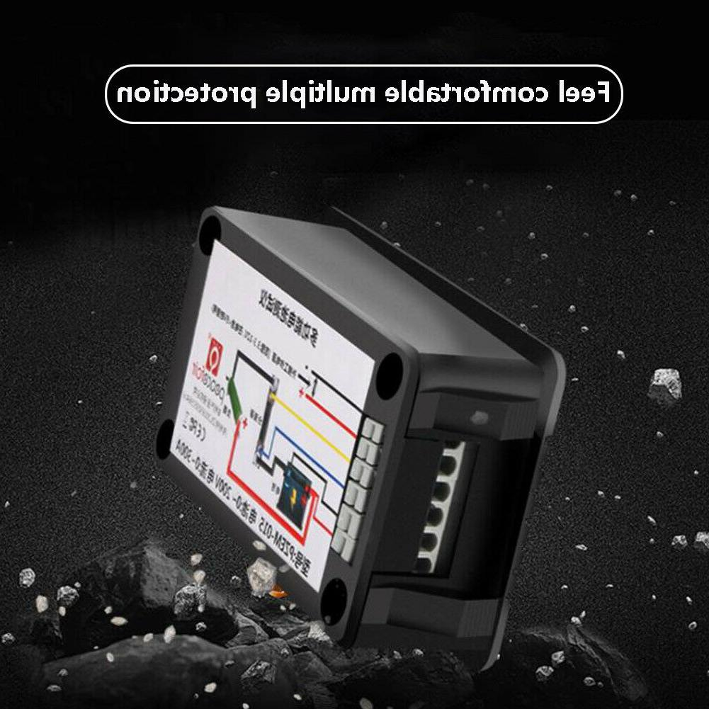 LCD Display DC Battery Monitor Voltmeter Ammeter for Solar