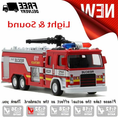 led cars toys fire truck model w