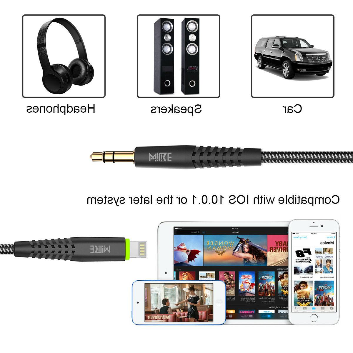 Lightning to 3.5mm Car Cord Aux Audio Cable USB iPhone 8 Plus