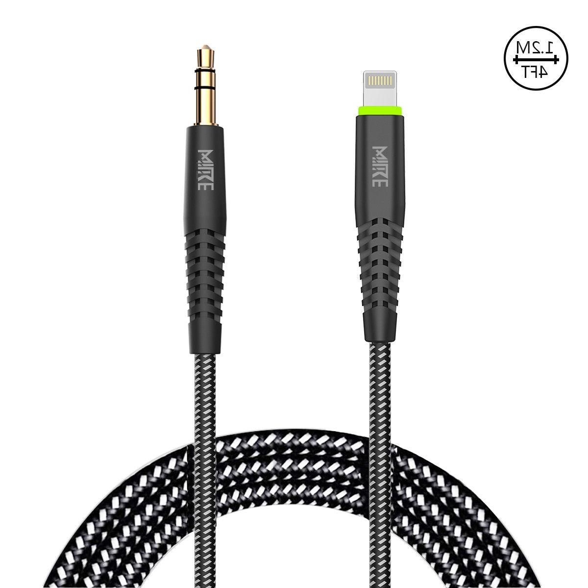lightning to 3 5mm car cord aux