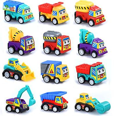M-jump Pull Back Vehicles 12pc Construction Truck Mini Car F