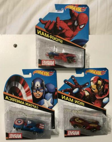 marvel character cars 2014captain america spider man