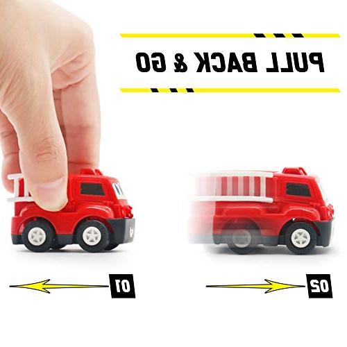 Mini Cars Back Play Set Cartoon Vehicle 2 3 6 Years Old Baby Toddlers Kids Boys Party Birthday Pinata Filler Stuffer Pack