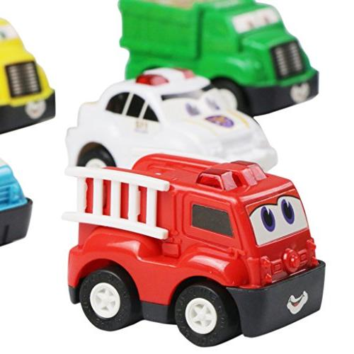 Mini Toy Cars Pull Back Set 2 4 Years Old Baby Toddlers Kids Boys Favors Birthday Pinata Filler Christmas Stuffer 6
