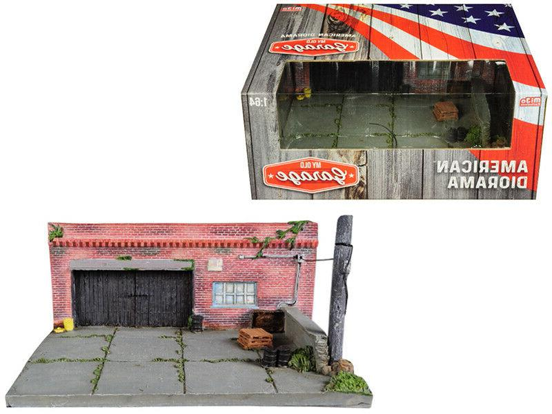 """""""MY OLD GARAGE"""" RESIN DIORAMA FOR 1/64 SCALE MODELS BY AMERI"""
