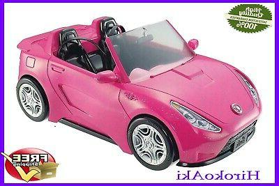 NEW Barbie Glam Convertible Car Pink Mattel Vehicle,for
