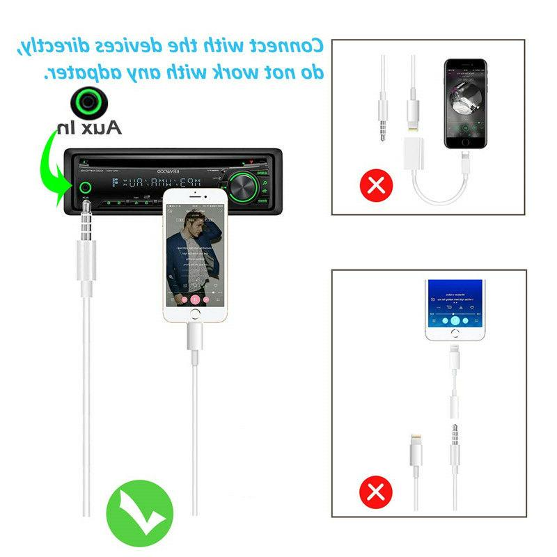 NEW AUX Car Music Cable for 7 8 Plus X Max