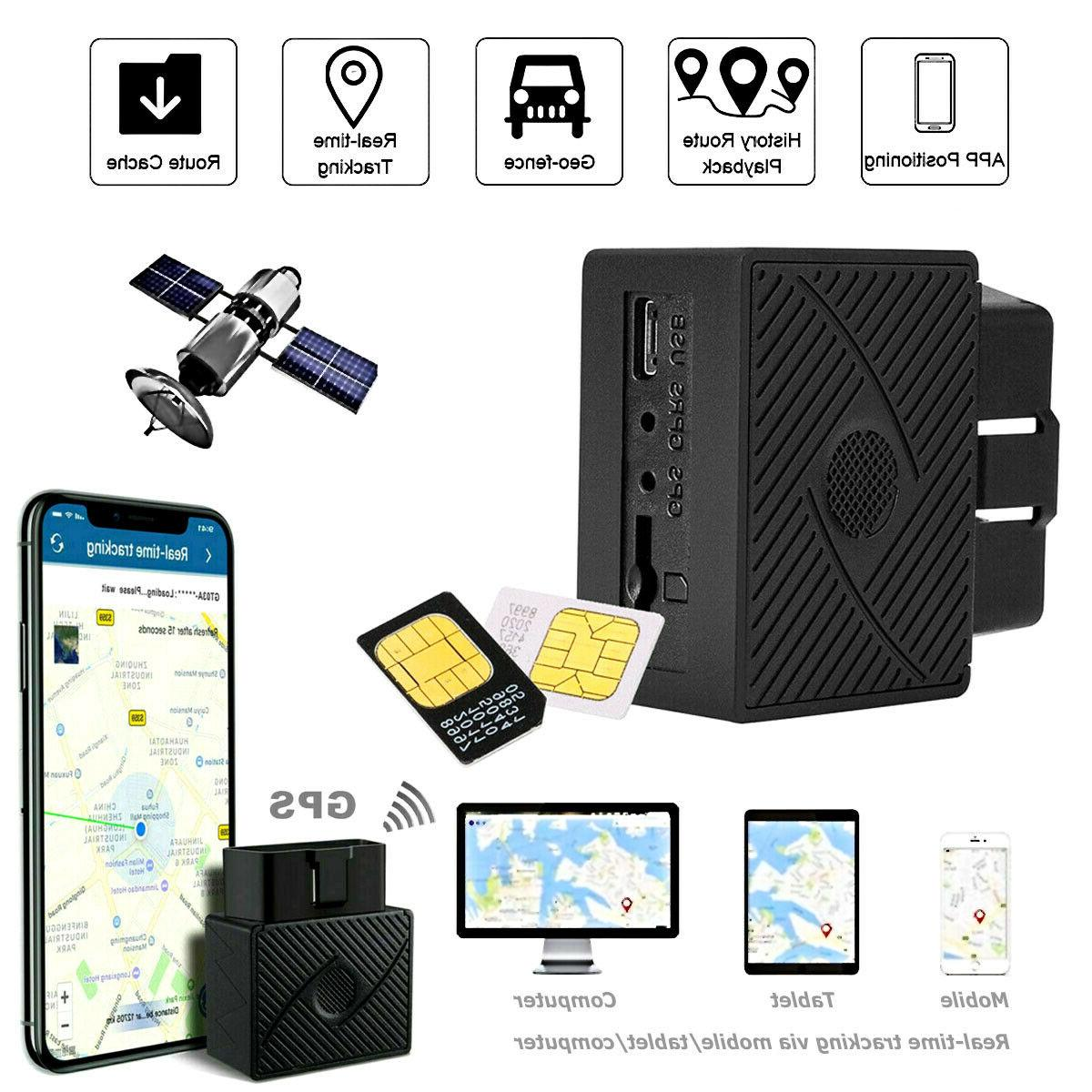 obd 2 gps tracker real time vehicle