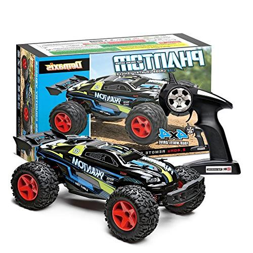 Offroad Remote Control Car, Demaxis RTR Electric 4x4 High 30 Rc 1/12 Desert with Led Lights