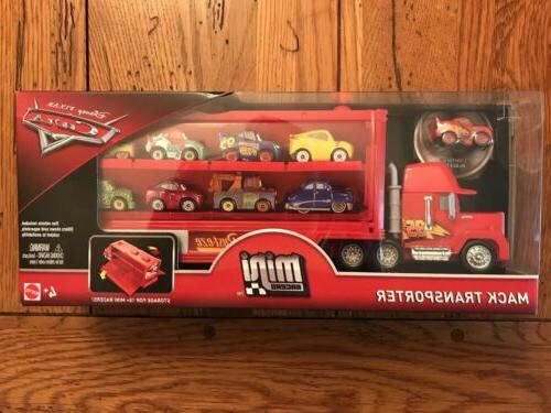 Disney Pixar Cars 3 Mini Racers MACK TRANSPORTER Lightning M