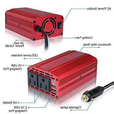 Power to Car Inverter With 4.2A USB Adapter