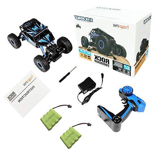 Hapinic RC Car Two Battery 4WD 1/18 Crawlers Off Vehicle Toy Control Car Color