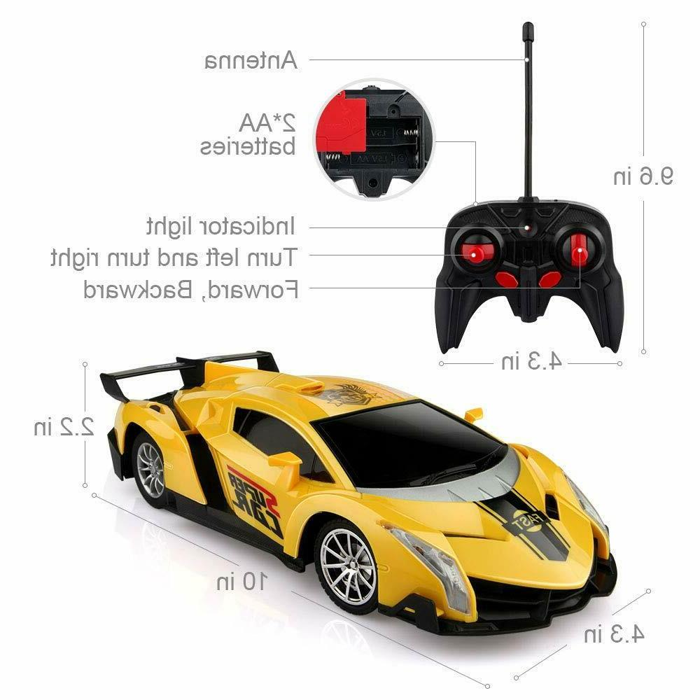 Remote Car, RC Cars Xmas Gifts Kids 1/24 Sport Racing