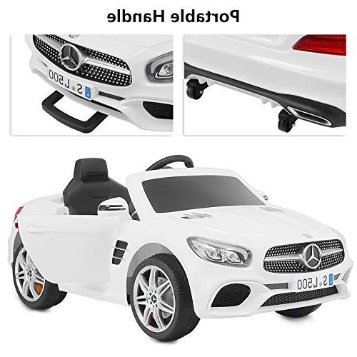 Uenjoy Mercedes-Benz Electric for Kiddie Ride Fun & Remote RC LED Suspension Lock White