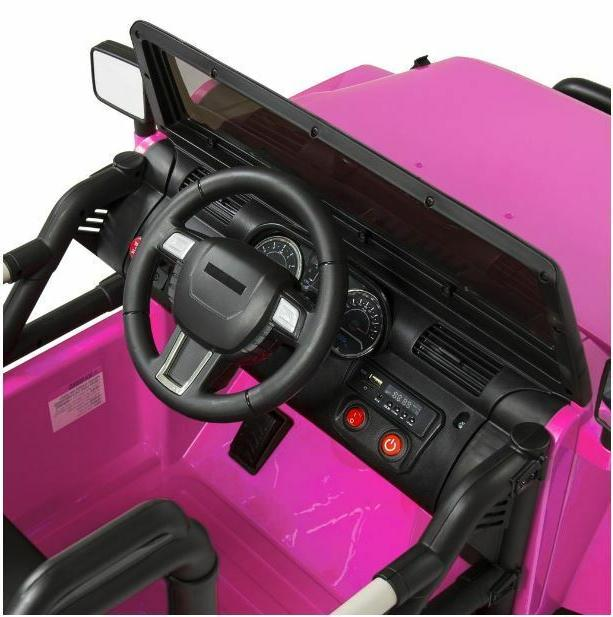 Best Products Ride W/ Control, 3 Speeds, Spring Suspension, LED Lights Pink