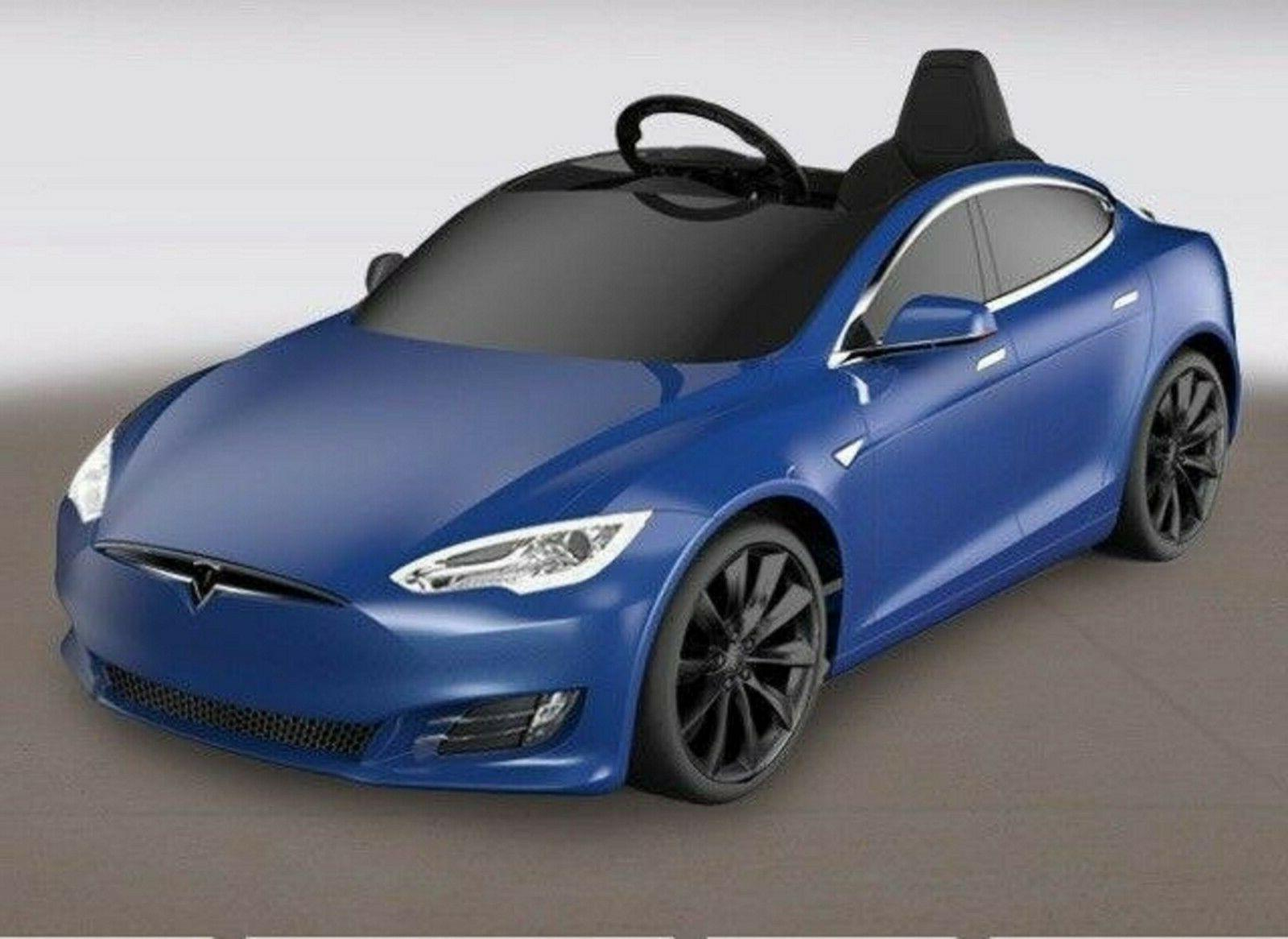 Riding cars for kids, mini Tesla model Include 190Wh Battery, Red,