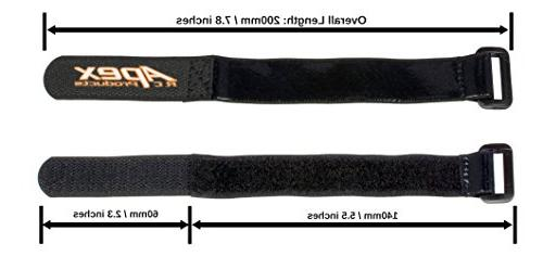 5 PACK 20mm x 200mm HD Rubberized Straps RC #3030