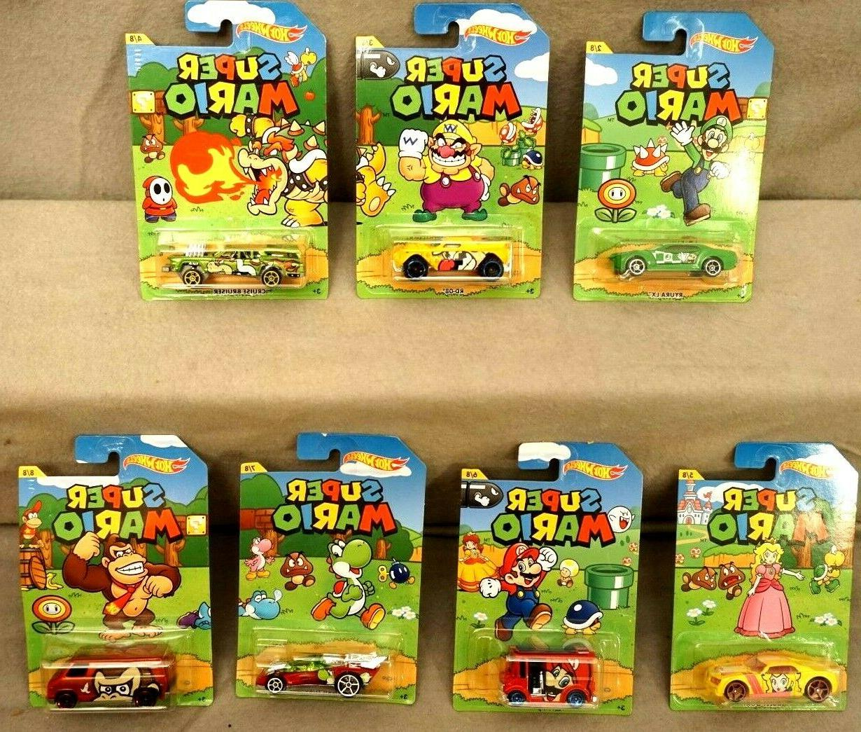 super mario lot of 7 cars collectors