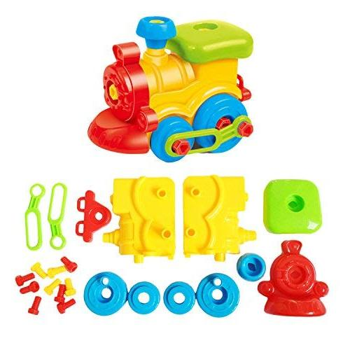 Take Apart - Train - Car - Stem Construction Tool Engineering set Toys Boys & Girls Ages 3,4,5,6 Years Old And Up, GIFT