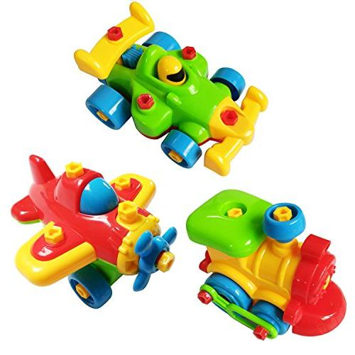 Take Toys - Train Car - Stem Construction Tool Toys Girls Ages Old GIFT