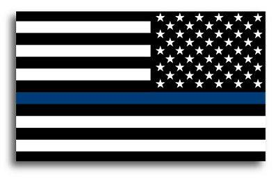 Thin Blue Line Flag Magnets 3x5 Car or Fridge
