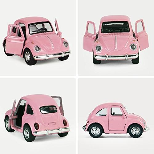 iPlay, Toy Car Play Die Model Cars, Retro, Beetle Models, Moving Toys, Pull Action Lights and
